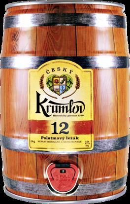 Ilustrační obrázek Krumlov 12 tmavý ležák, soudek 5l